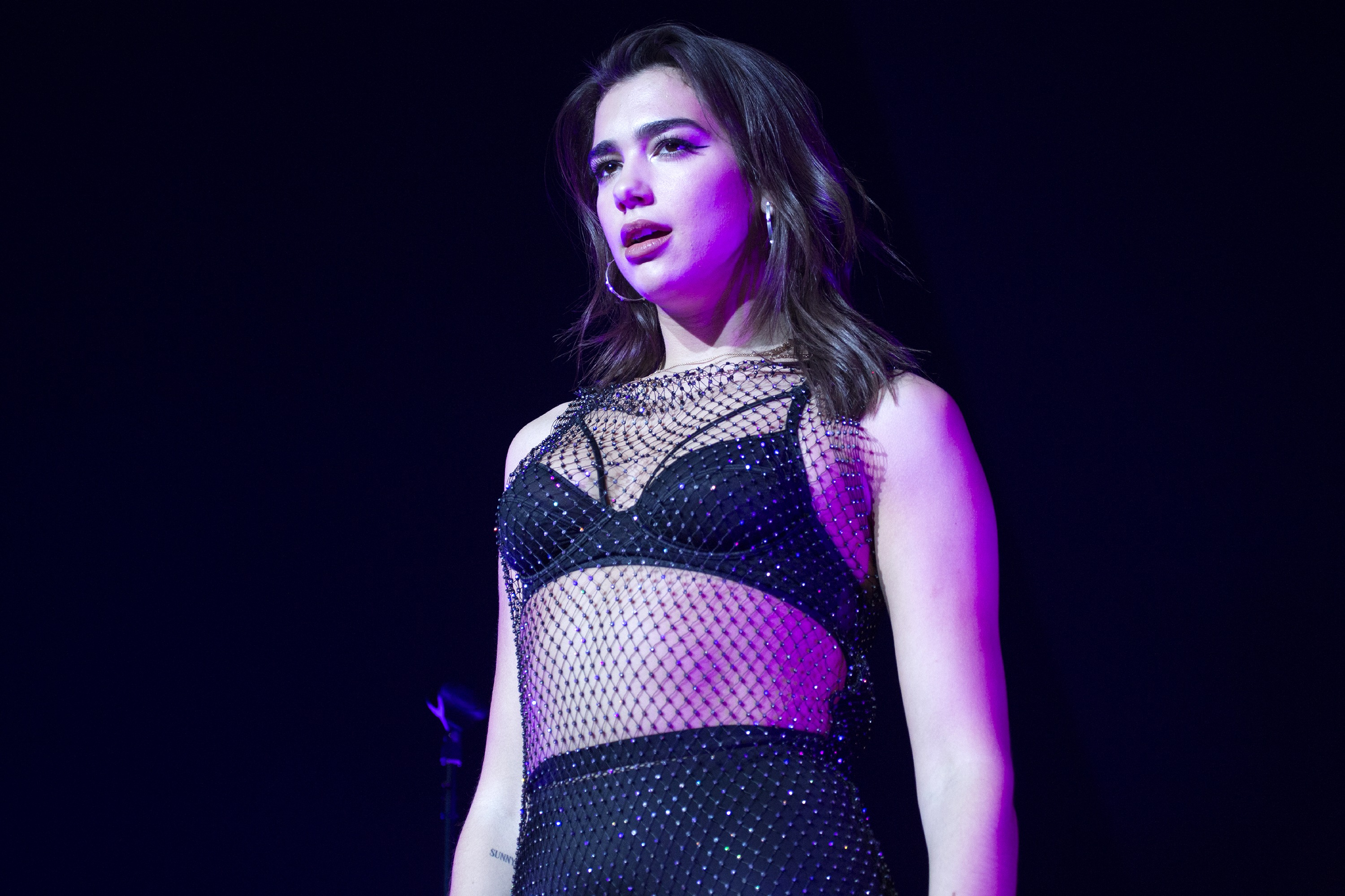 NEW YORK, NY - NOVEMBER 24: Dua Lipa performs onstage at Hammerstein Ballroom on November 24, 2017 in New York City. (Photo by Santiago Felipe/Getty Images)